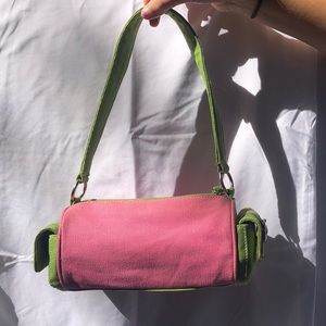 Tommy Hilfiger Pink and Green Bag